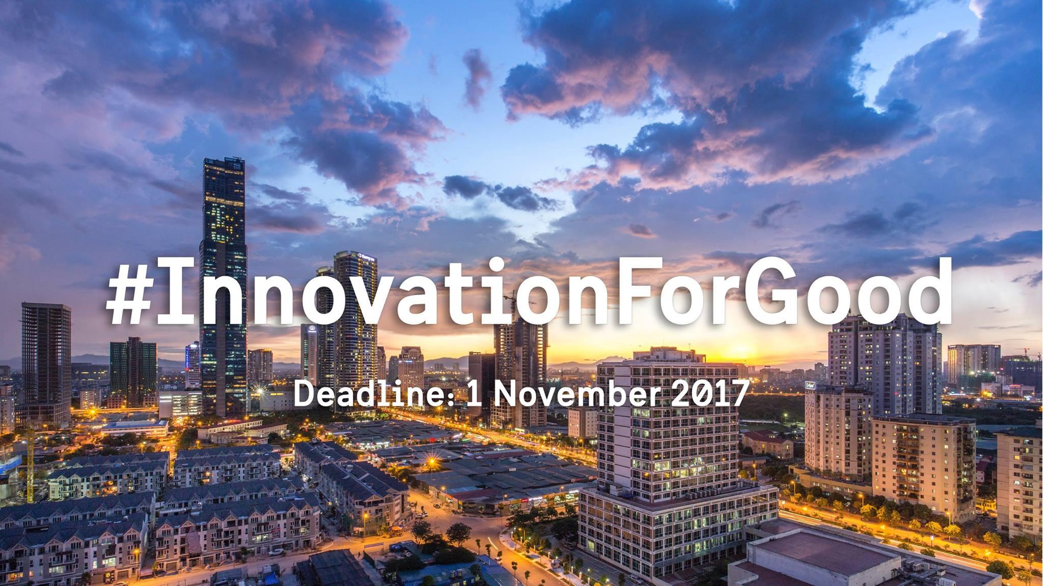 [Thụy Điển] Cơ Hội Dành Chuyến Đi Tới Thụy Điển Và 1000 USD Từ Cuộc Thi Internet Award#InnovationForGood 2017