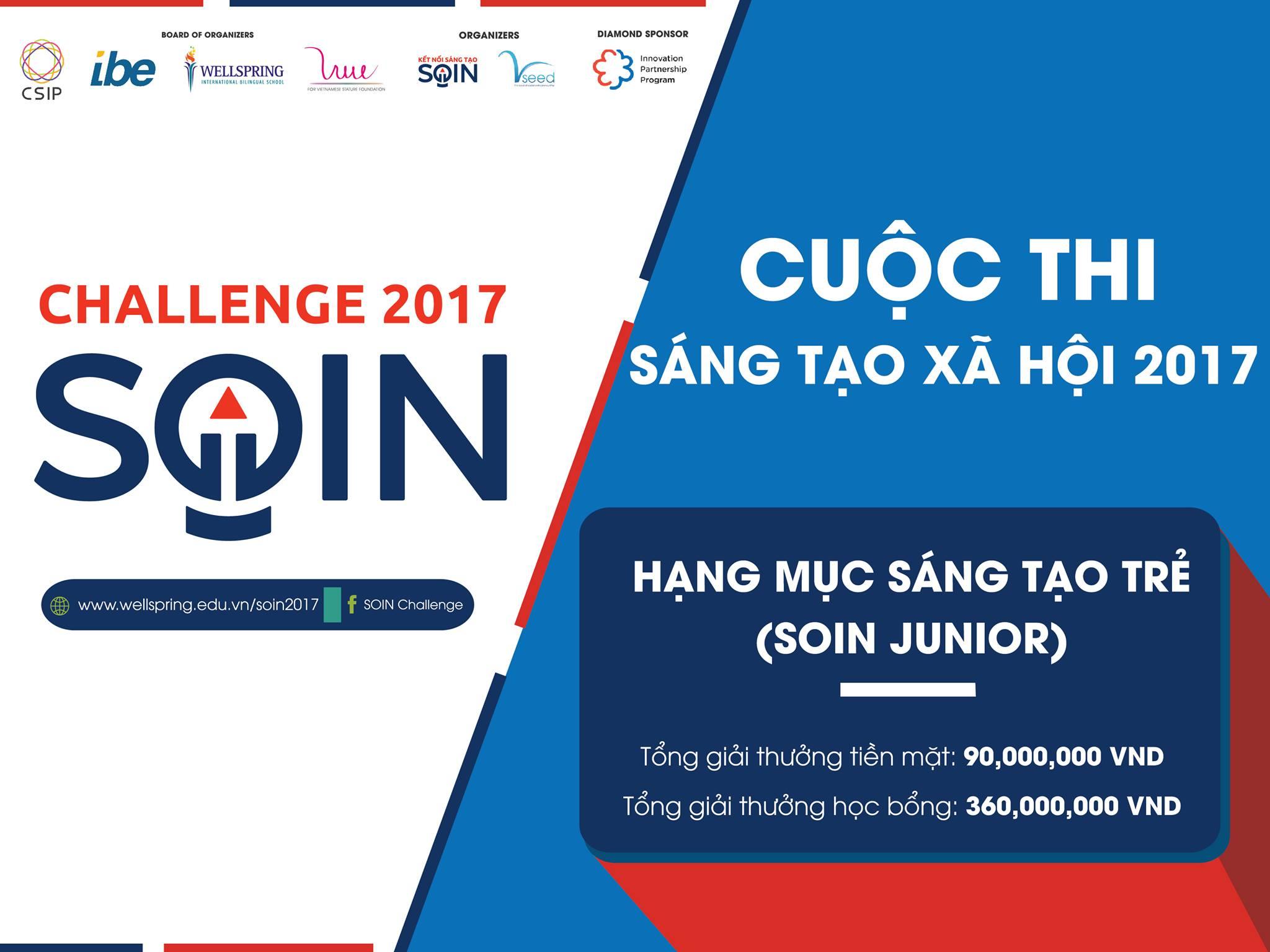 [Toàn Quốc] Cơ Hội Nhận Giải Thưởng Lên Đến 30.000.000 Đồng Qua Cuộc Thi TÌm Kiếm Giải Pháp Cho Các Vấn Đề Xã Hội SOIN Challenge