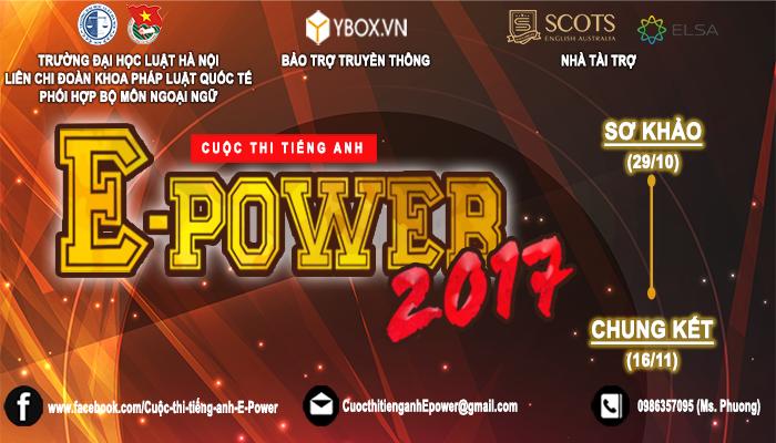 [HN] Cuộc Thi Tiếng Anh Toàn Thành Phố Hà Nội E-POWER 2017
