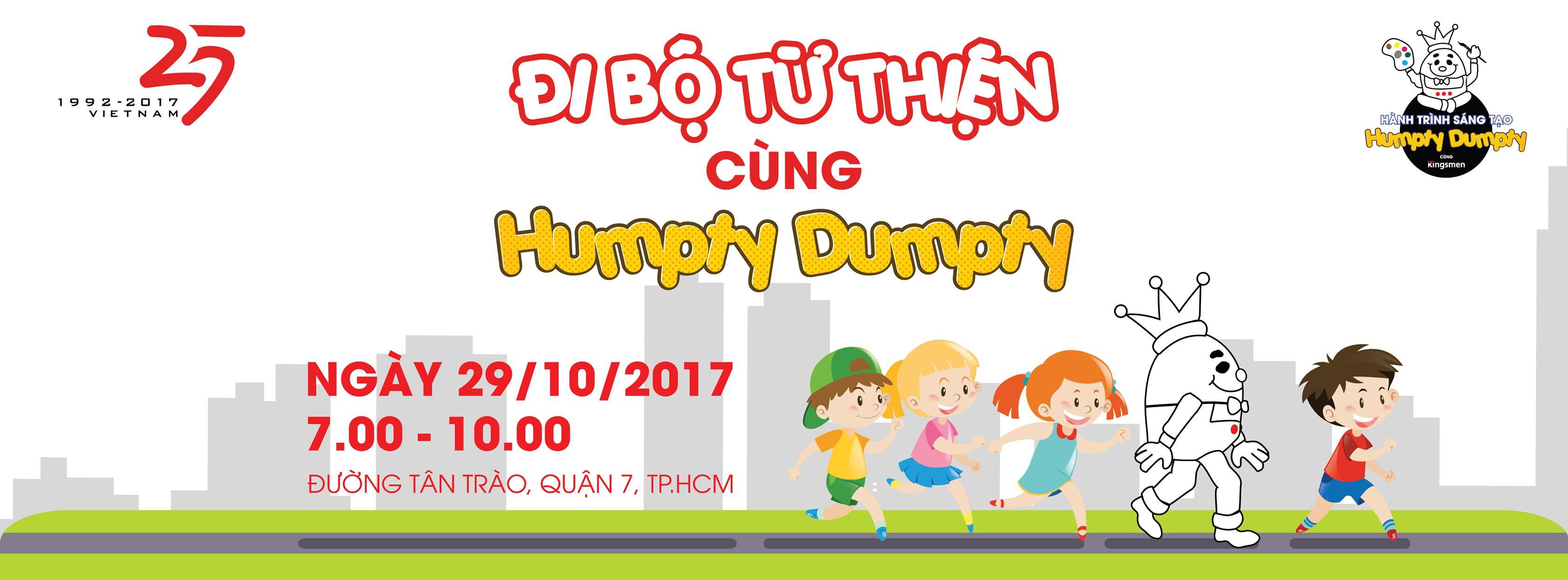 [HCM] Sự Kiện Đi Bộ Từ Thiện Cùng Humpty Dumpty 2017