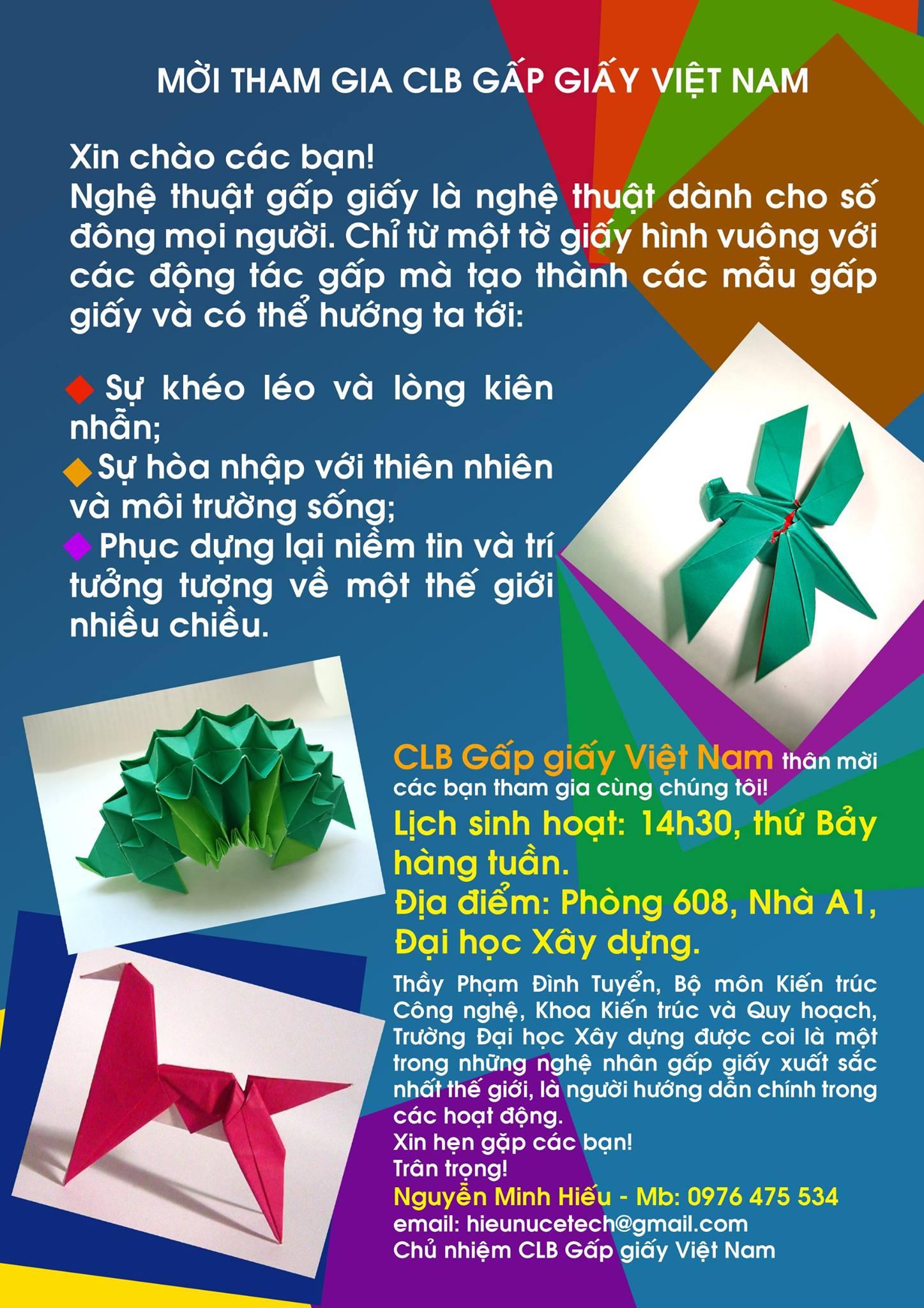 [HN] Sinh Hoạt Hàng Tuần Cùng CLB Gấp Giấy Việt Nam