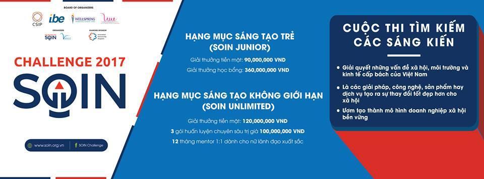 [Toàn Quốc] Cơ Hội Nhận 25,000 USD Và Full Coaching Package 5000 USD Cùng  Cuộc Thi Thử Thách Sáng Tạo Xã Hội 2017 (Soin Challenge 2017) - YBOX