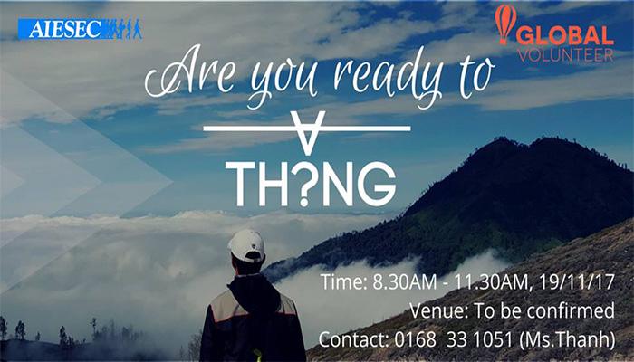 """[HCM] Ngày Hội Thông Tin: Are You Ready To """"Thẳng""""? Từ  AIESEC - Global Volunteer"""