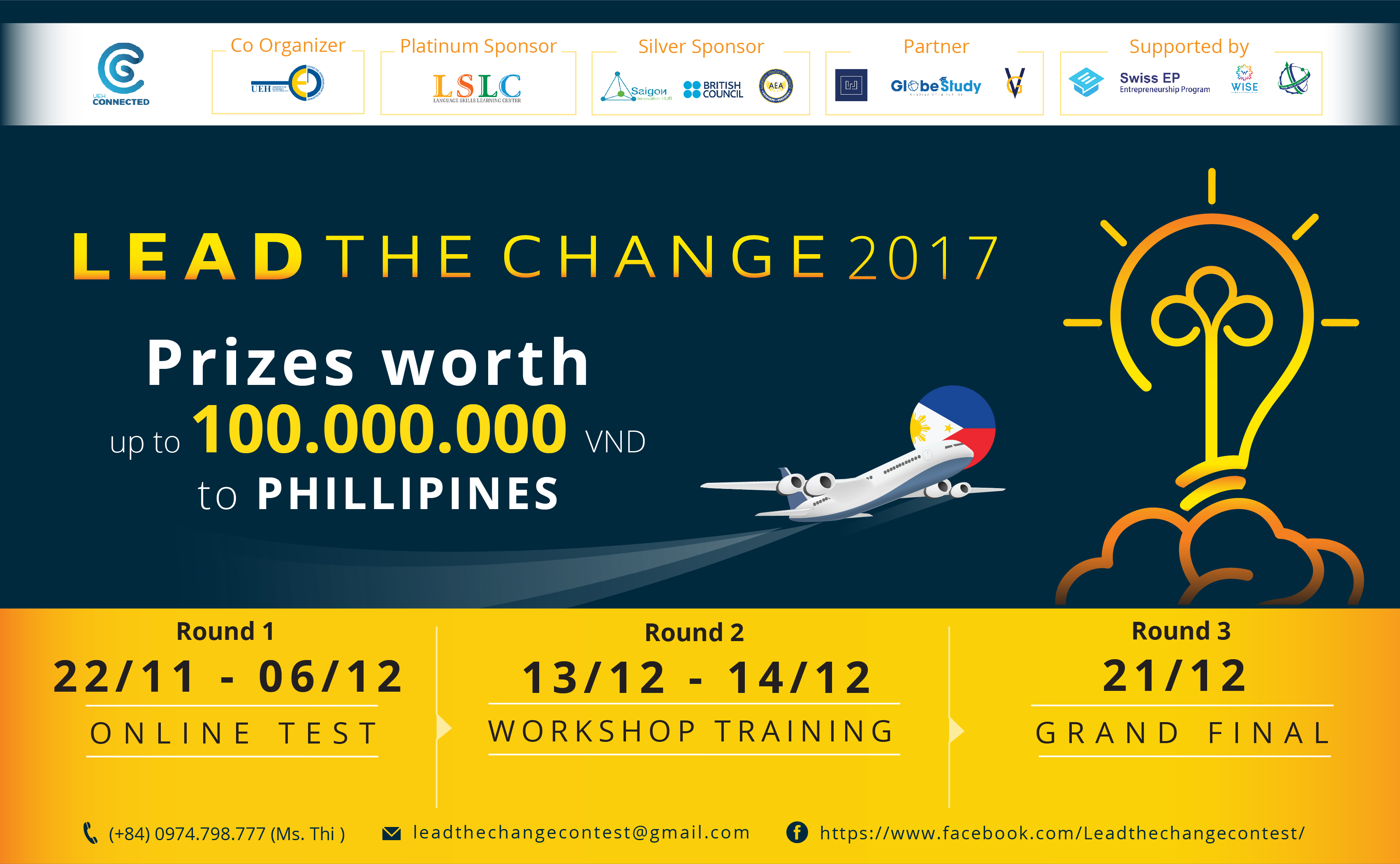 [HCM] Cơ Hội Nhận Giải Thưởng Lên Tới 100.000.000 VNĐ Cùng Cuộc Thi Lead The Change 2017