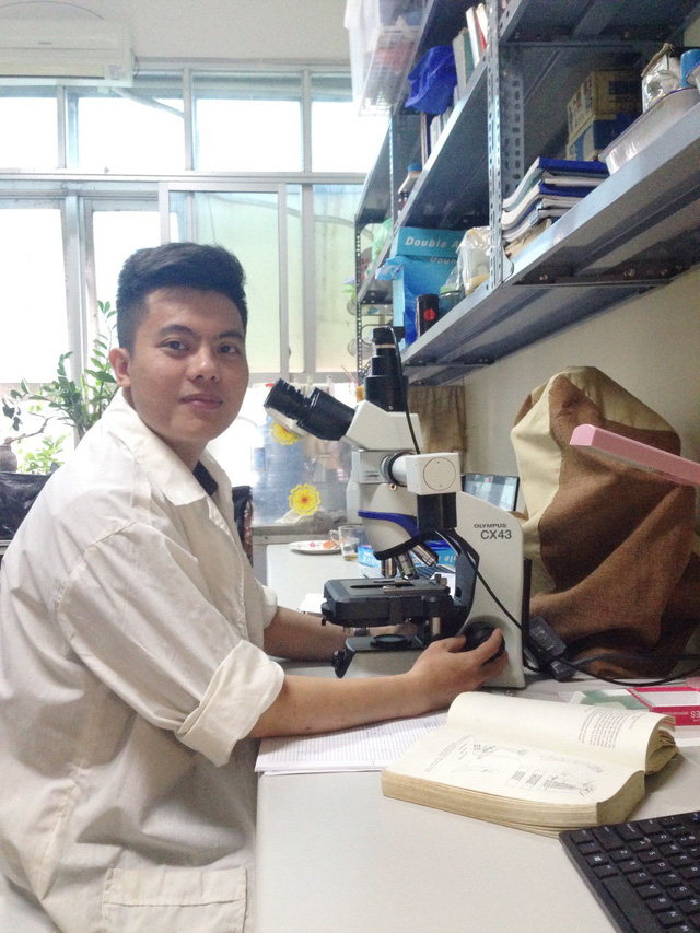 Nghiên cứu khoa học là lĩnh vực mà chàng trai 9x Tuấn Anh tài năng lựa chọn.