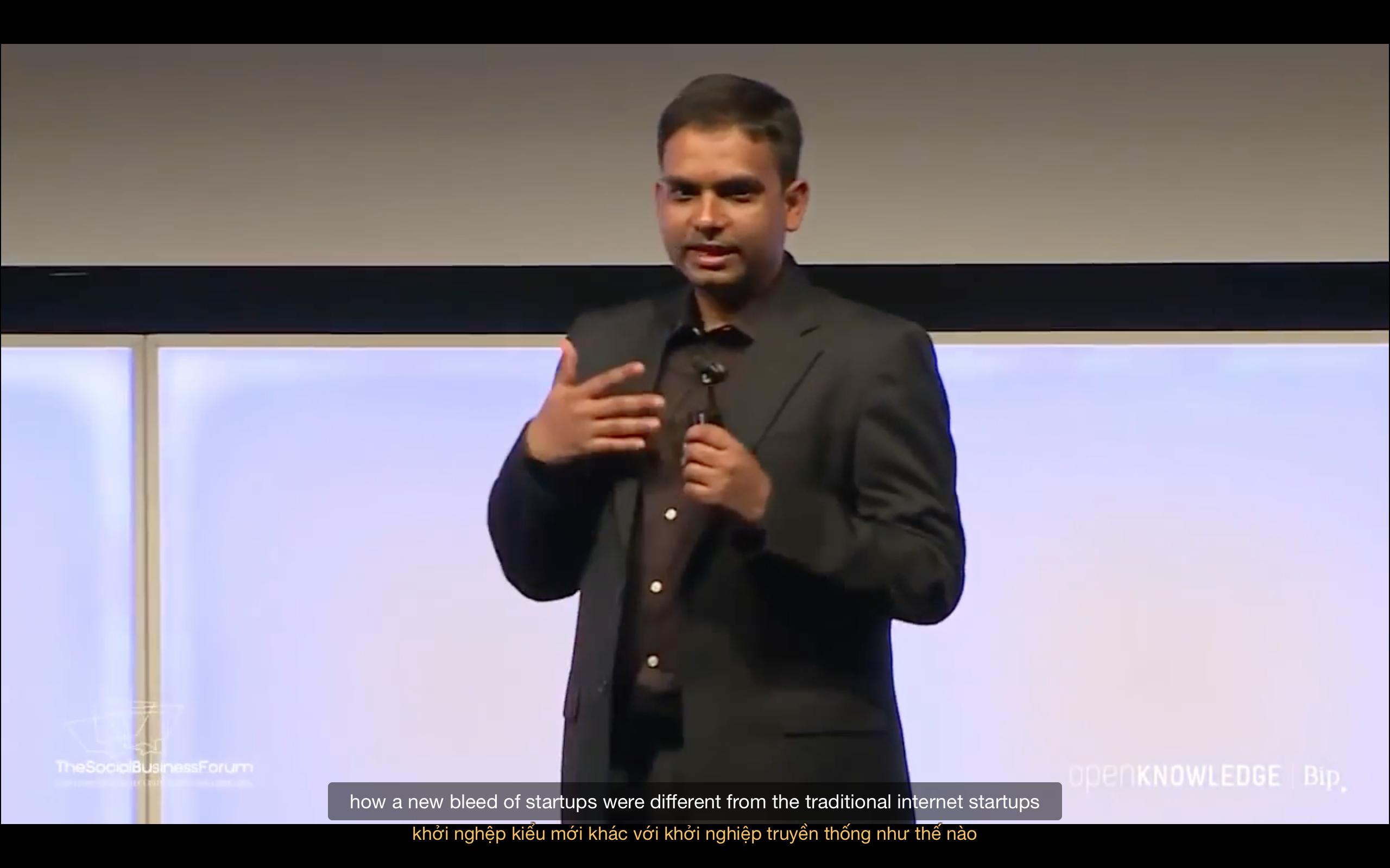[Startup] Cuộc Cách Mạng Nền Tảng | Bài Nói Chuyện Của Sangeet Tại Social Business Forum, 2016