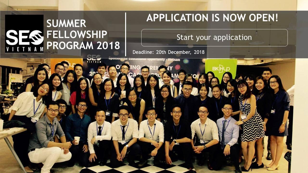 [HN,HCM] Chương Trình Summer Fellowship Program Tại Tổ Chức Phi Lợi Nhuận Sponsors for Educational Opportunity (SEO-Vietnam) 2018