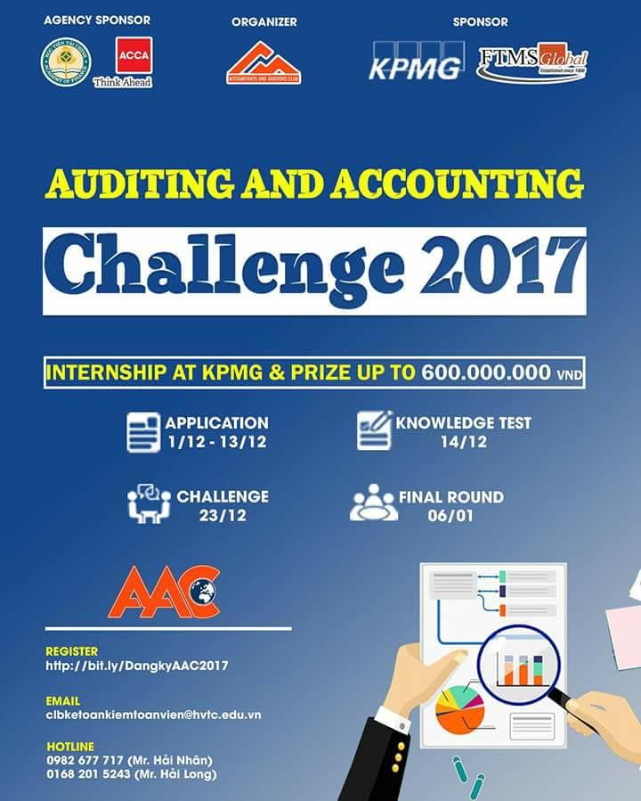 [HN] Cuộc Thi Auditing And Accounting Challenge - Câu Lạc Bộ Kế Toán Kiểm Toán Viên HVTC (A&A) 2017
