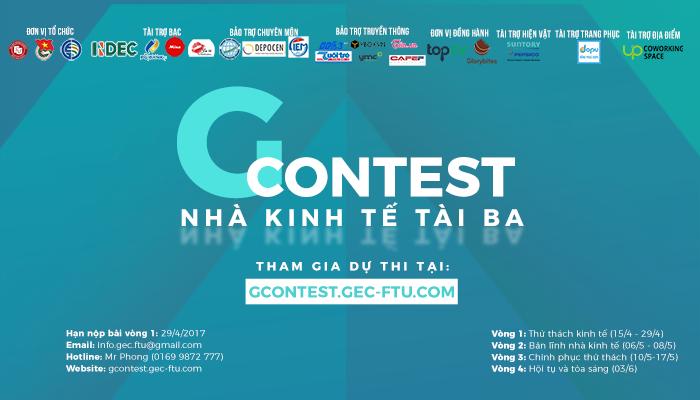 [HN - BTTT] Cuộc Thi G'CONTEST - Nhà Kinh Tế Tài Ba 2017: Nơi Sinh Viên Kinh Tế Định Vị Lại Bản Thân