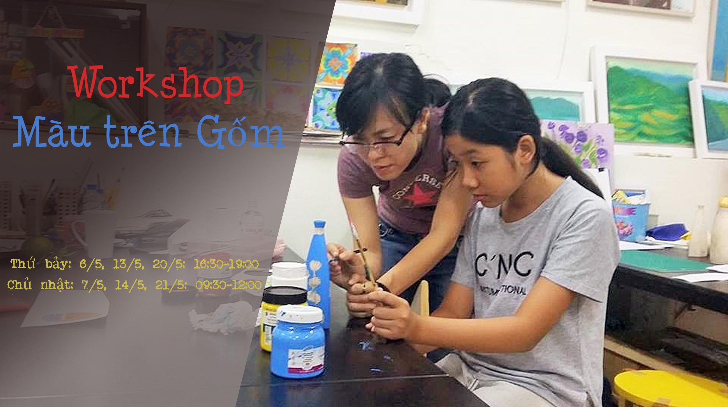 [HCM] Workshop Màu Trên Gốm
