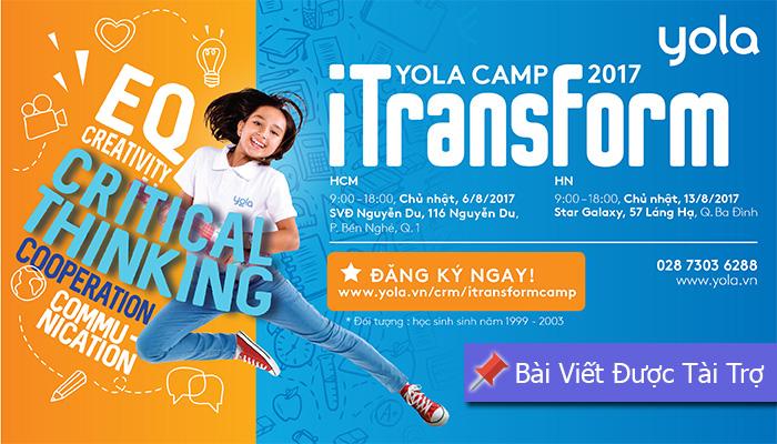 [HN&HCM] YOLA Camp - iTransfer: Trại Hè Miễn Phí Dành Cho Giới Trẻ - Cơ Hội Gặp Gỡ, Giao Lưu Và Học Hỏi Từ Những Người Trẻ Thành Đạt Trong Nhiều Lĩnh Vực
