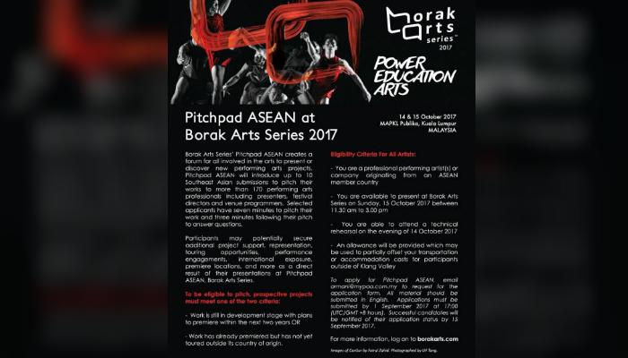 [Đông Nam Á] Cơ Hội Tham Dự Borak Arts Series tại Kuala Lumpur, Malaysia Với Cuộc Thi Pitchpad ASEAN 2017