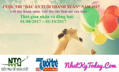 """[Toàn Quốc] Cuộc Thi Viết """" Dấu Ấn Tuổi Thanh Xuân"""" Năm 2017"""