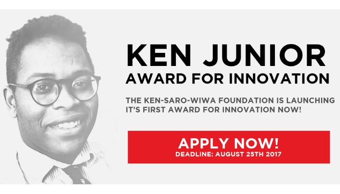 [Toàn Cầu] Cơ Hội Được Làm Việc Tại The Ken Saro-Wiwa Innovation Hub Với Cuộc Thi Ken Junior Award Lần Thứ Nhất 2017