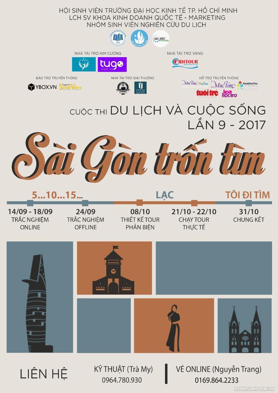 [HCM-BTTT] Cuộc Thi Du lịch Và Cuộc Sống 2017 - Sài Gòn Trốn Tìm