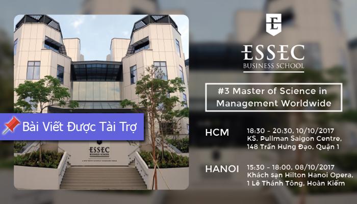 [HN&HCM] Hội Thảo Thông Tin Và Tư Vấn Chương Trình Thạc Sĩ - Cử Nhân Của Trường Kinh Doanh ESSEC (Trường Đại Học Xếp Hạng #1 Của Pháp)