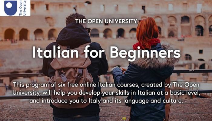 [Online] Series 6 Khoá Học Miễn Phí Về Tiếng Ý Cơ Bản Từ Đại Học Mở (Anh) 2018