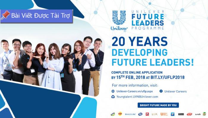 [Toàn Quốc] Chương Trình Nhà Lãnh Đạo Tương Lai Unilever – Unilever Future Leaders Programme 2018 (UFLP)