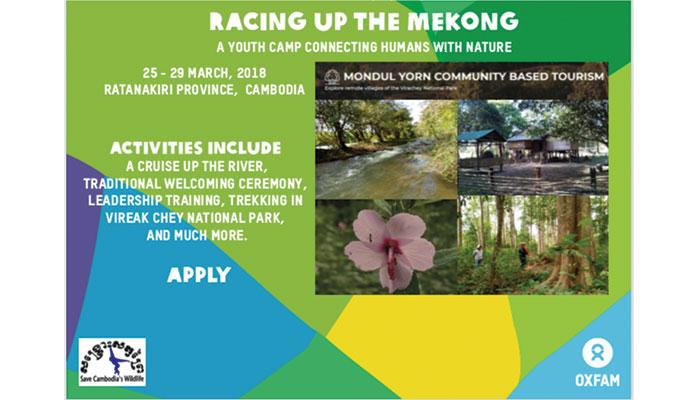 [Cambodia] Sự Kiện Regional Youth Camp Tổ Chức Bởi Oxfam Và Save Cambodia's Wildlife 2018 (Tài Trợ Toàn Phần)