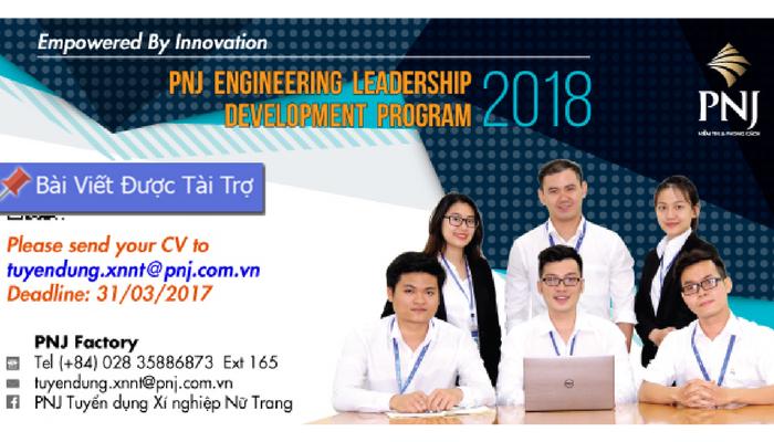 """HCM] Chương Trình Quản Trị Viên Tập Sự """"PNJ Engineering"""